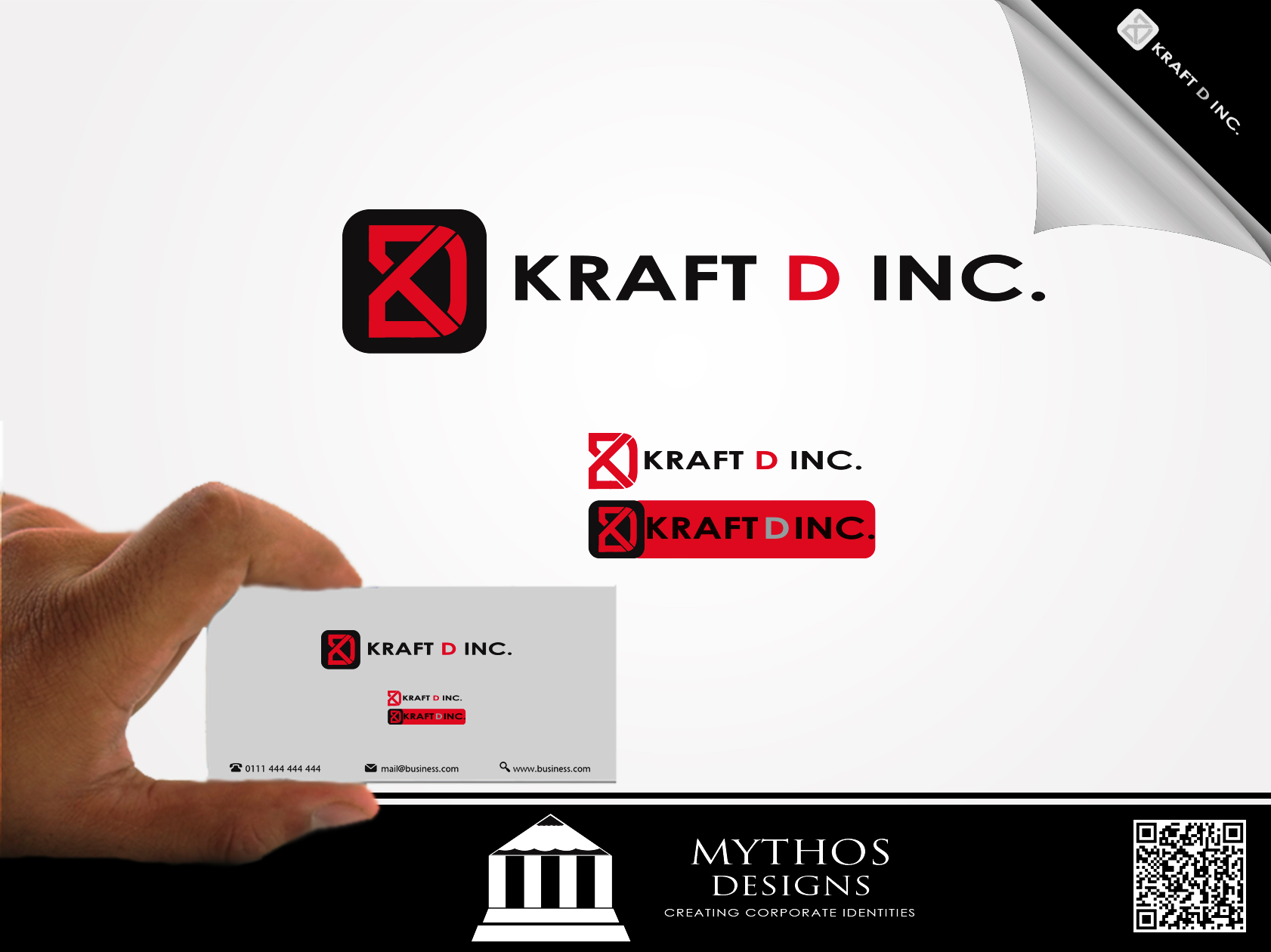 Logo Design by Mythos Designs - Entry No. 132 in the Logo Design Contest Unique Logo Design Wanted for Kraft D Inc.