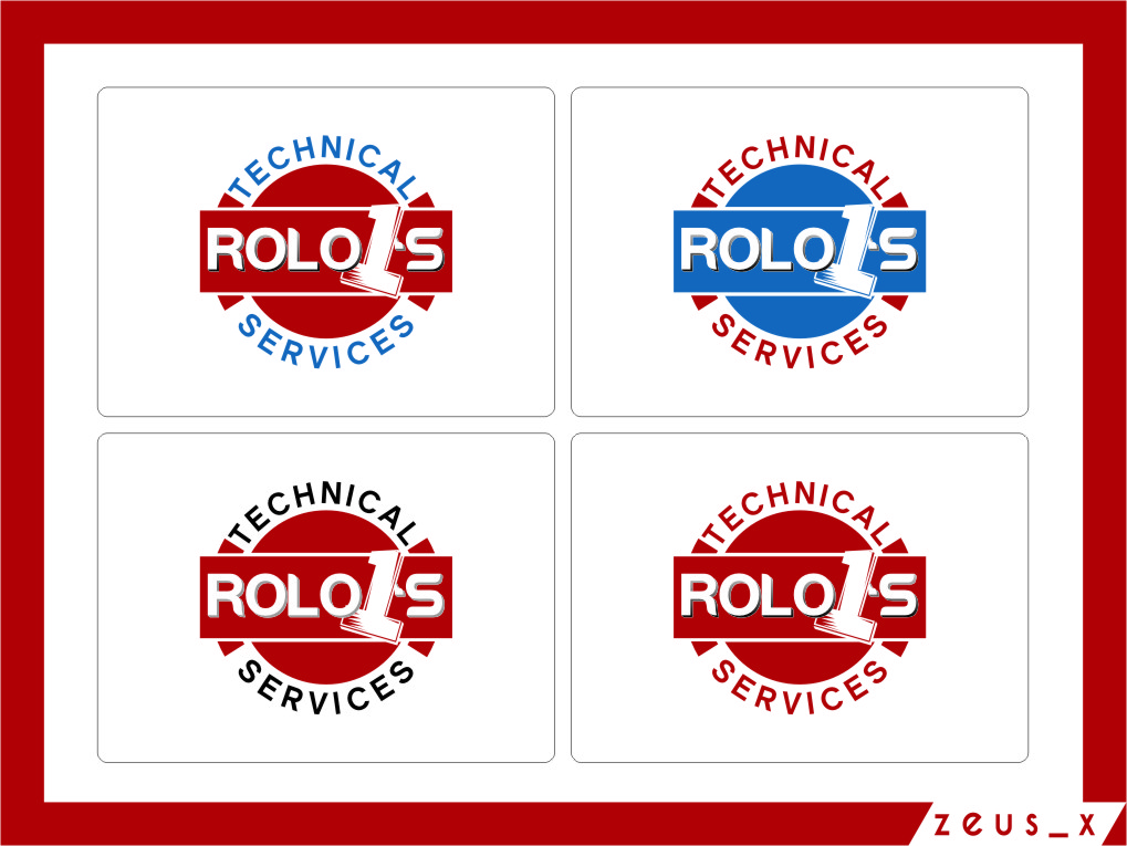 Logo Design by RasYa Muhammad Athaya - Entry No. 46 in the Logo Design Contest Inspiring Logo Design for Rolo1's Technical Services.