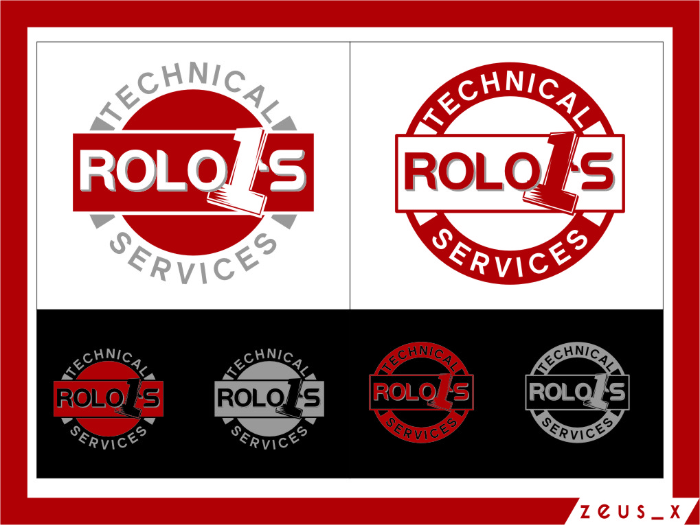 Logo Design by RasYa Muhammad Athaya - Entry No. 47 in the Logo Design Contest Inspiring Logo Design for Rolo1's Technical Services.