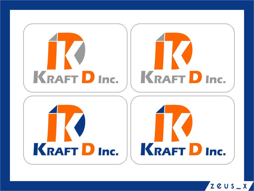 Logo Design by Ngepet_art - Entry No. 142 in the Logo Design Contest Unique Logo Design Wanted for Kraft D Inc.