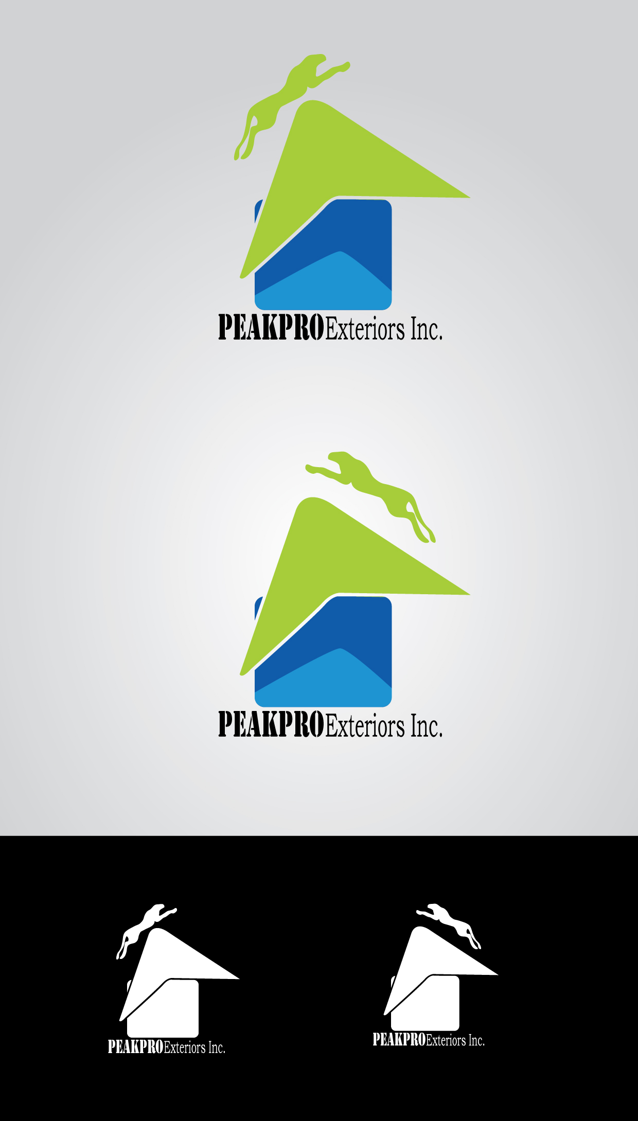 Logo Design by mediaproductionart - Entry No. 104 in the Logo Design Contest Captivating Logo Design for Peakpro Exteriors Inc..