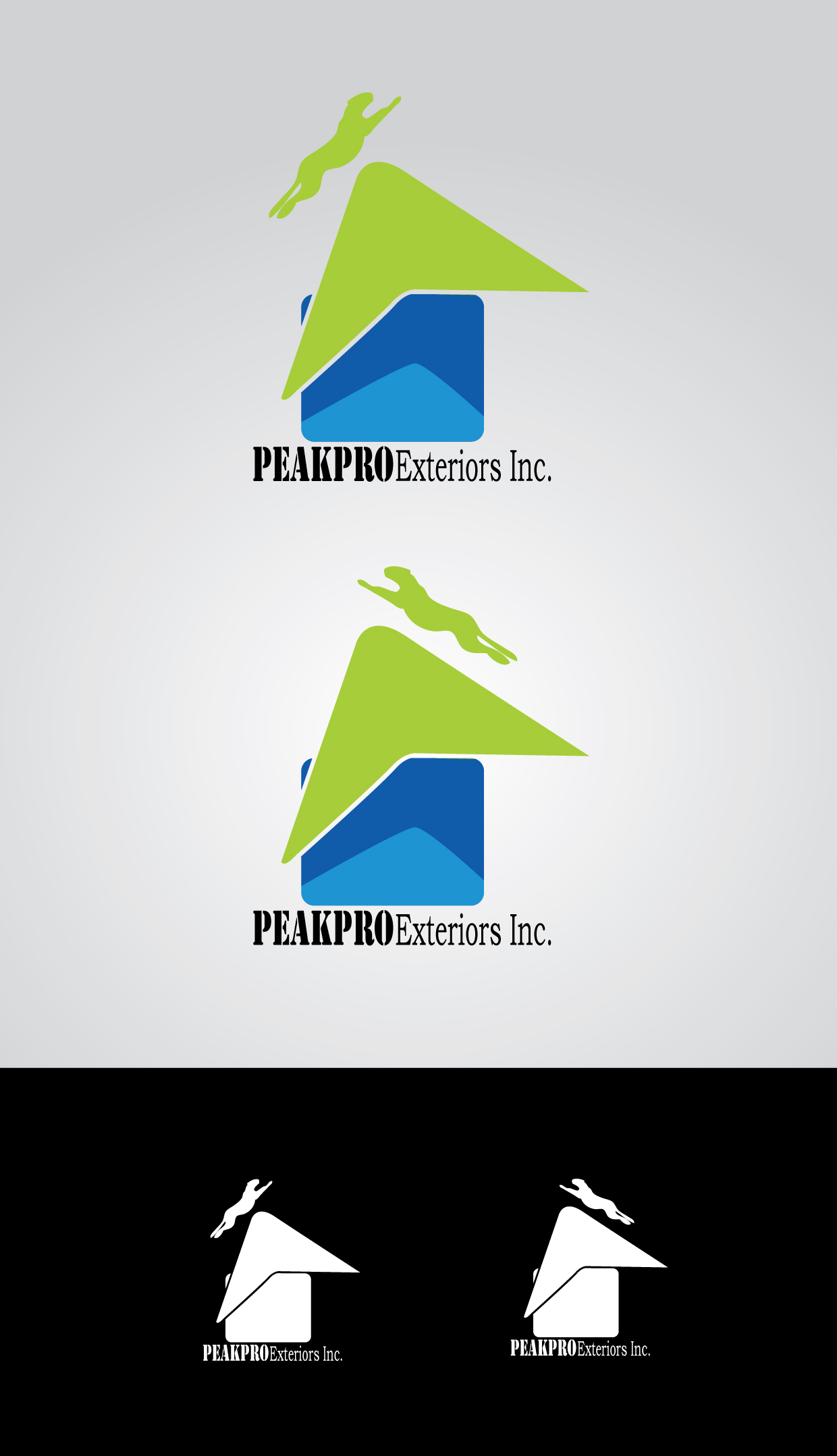 Logo Design by mediaproductionart - Entry No. 105 in the Logo Design Contest Captivating Logo Design for Peakpro Exteriors Inc..