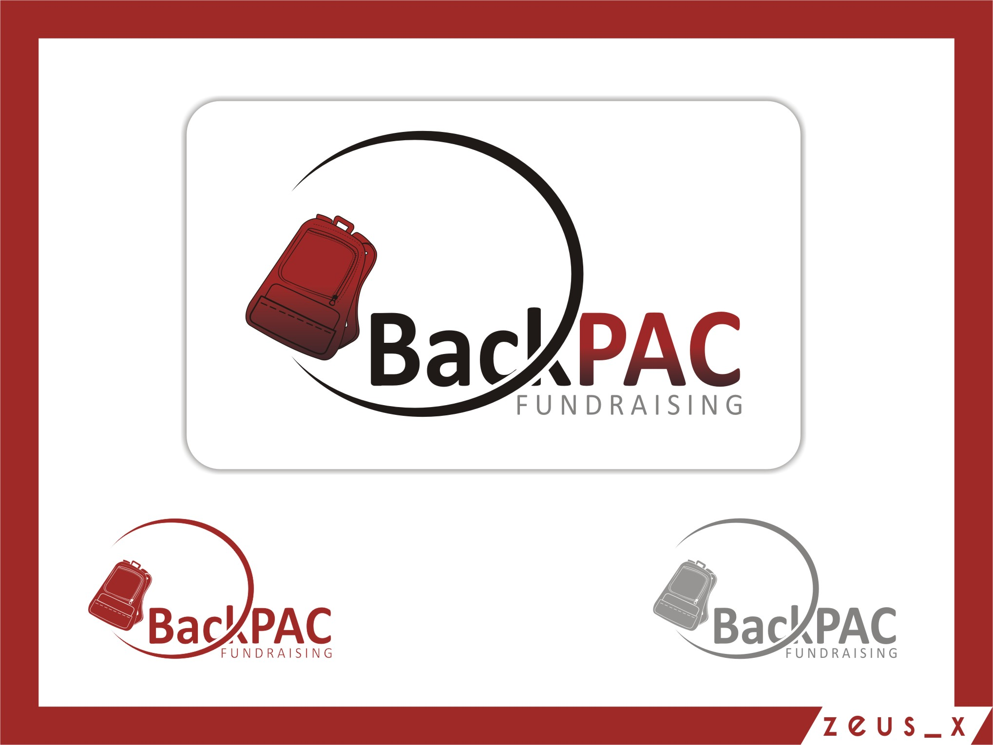 Logo Design by RasYa Muhammad Athaya - Entry No. 51 in the Logo Design Contest Imaginative Logo Design for BackPAC Fundraising.