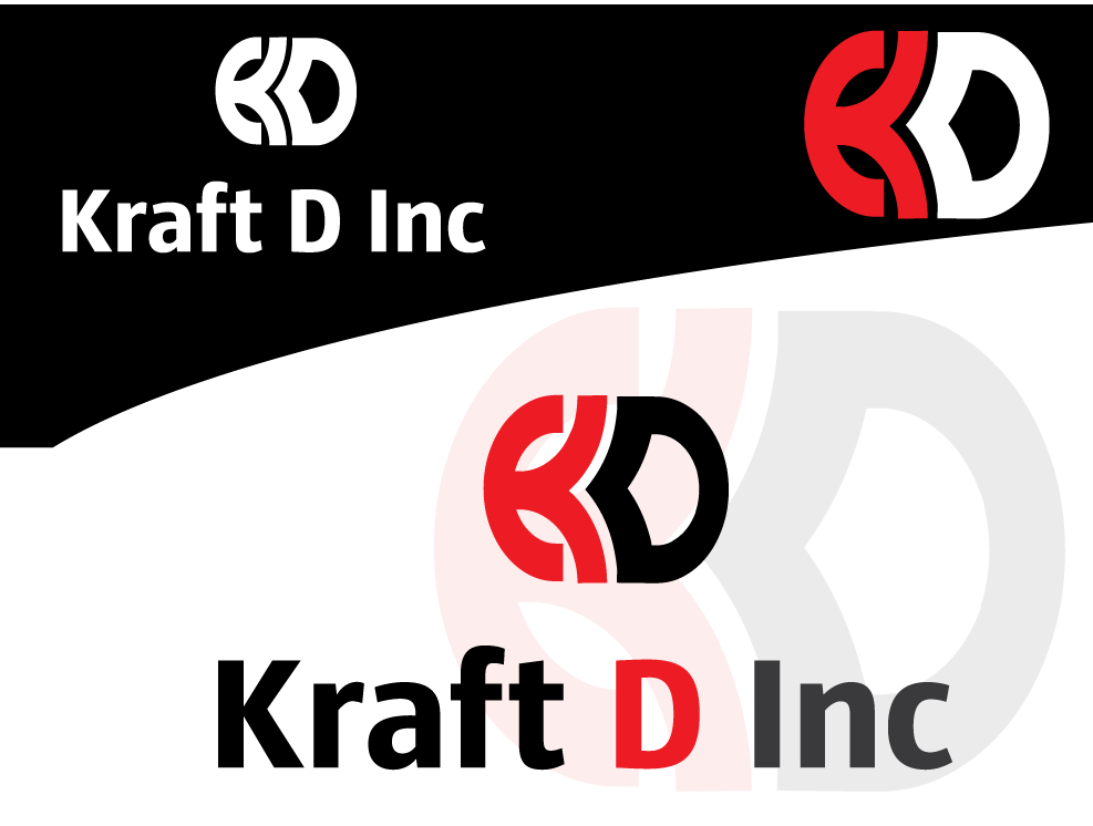 Logo Design by 354studio - Entry No. 156 in the Logo Design Contest Unique Logo Design Wanted for Kraft D Inc.