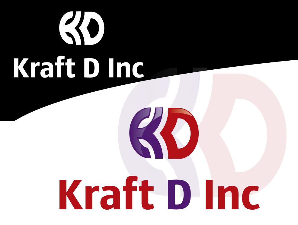 Logo Design by 354studio - Entry No. 157 in the Logo Design Contest Unique Logo Design Wanted for Kraft D Inc.