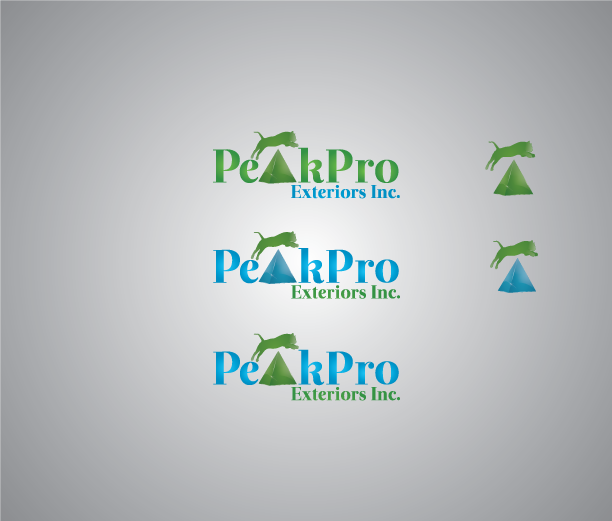 Logo Design by Private User - Entry No. 109 in the Logo Design Contest Captivating Logo Design for Peakpro Exteriors Inc..