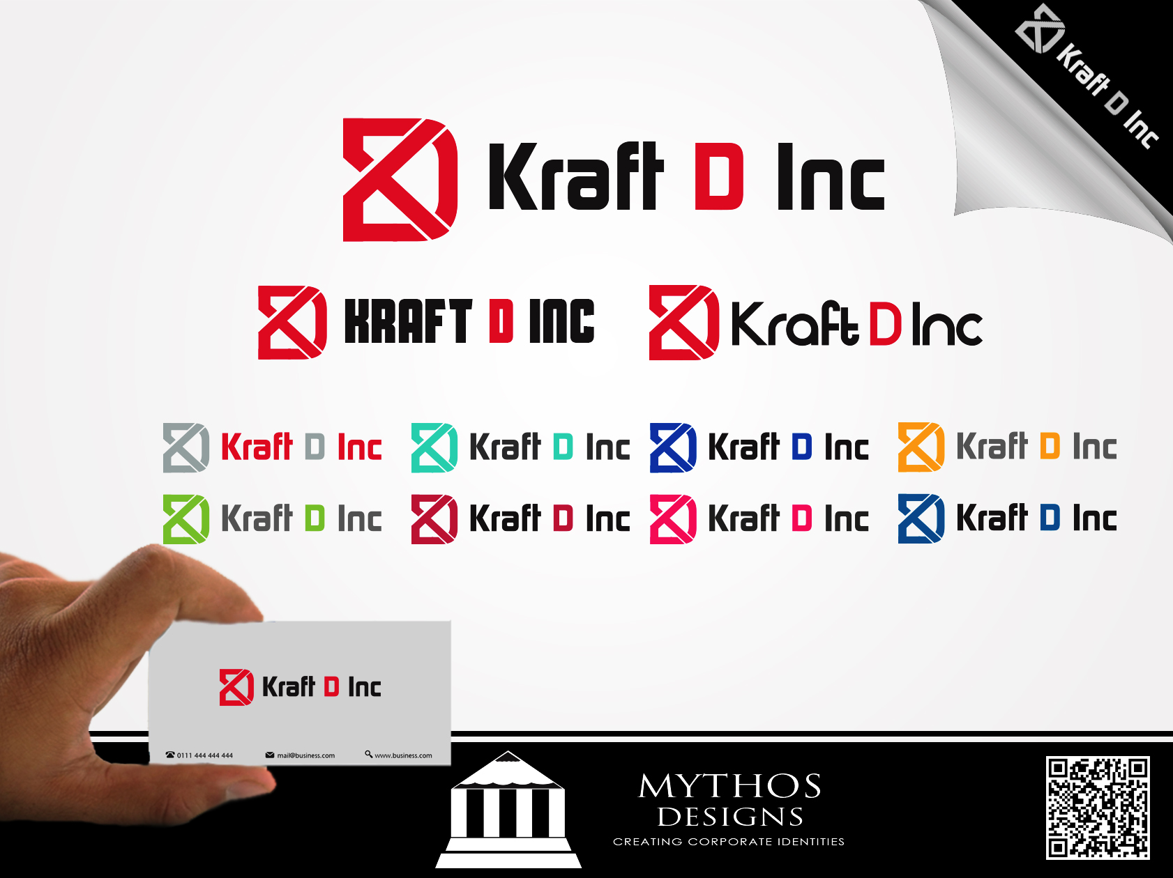 Logo Design by Mythos Designs - Entry No. 161 in the Logo Design Contest Unique Logo Design Wanted for Kraft D Inc.