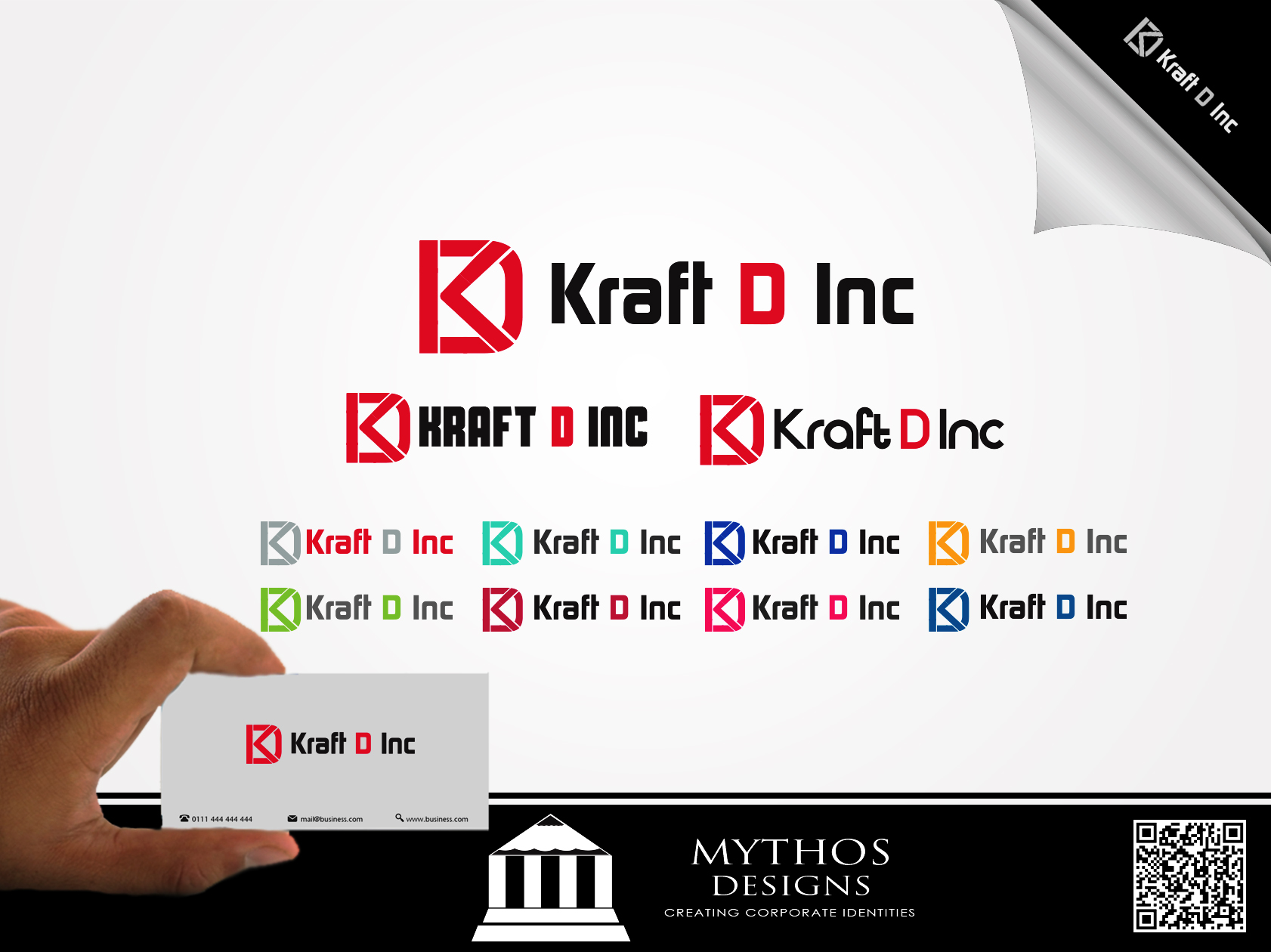 Logo Design by Mythos Designs - Entry No. 163 in the Logo Design Contest Unique Logo Design Wanted for Kraft D Inc.
