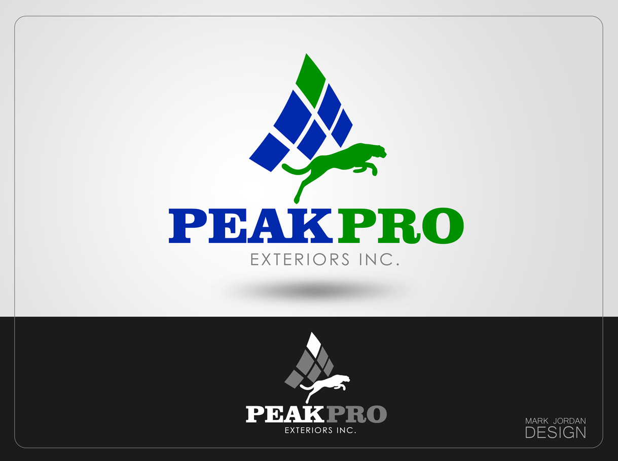 Logo Design by Mark Anthony Moreto Jordan - Entry No. 111 in the Logo Design Contest Captivating Logo Design for Peakpro Exteriors Inc..