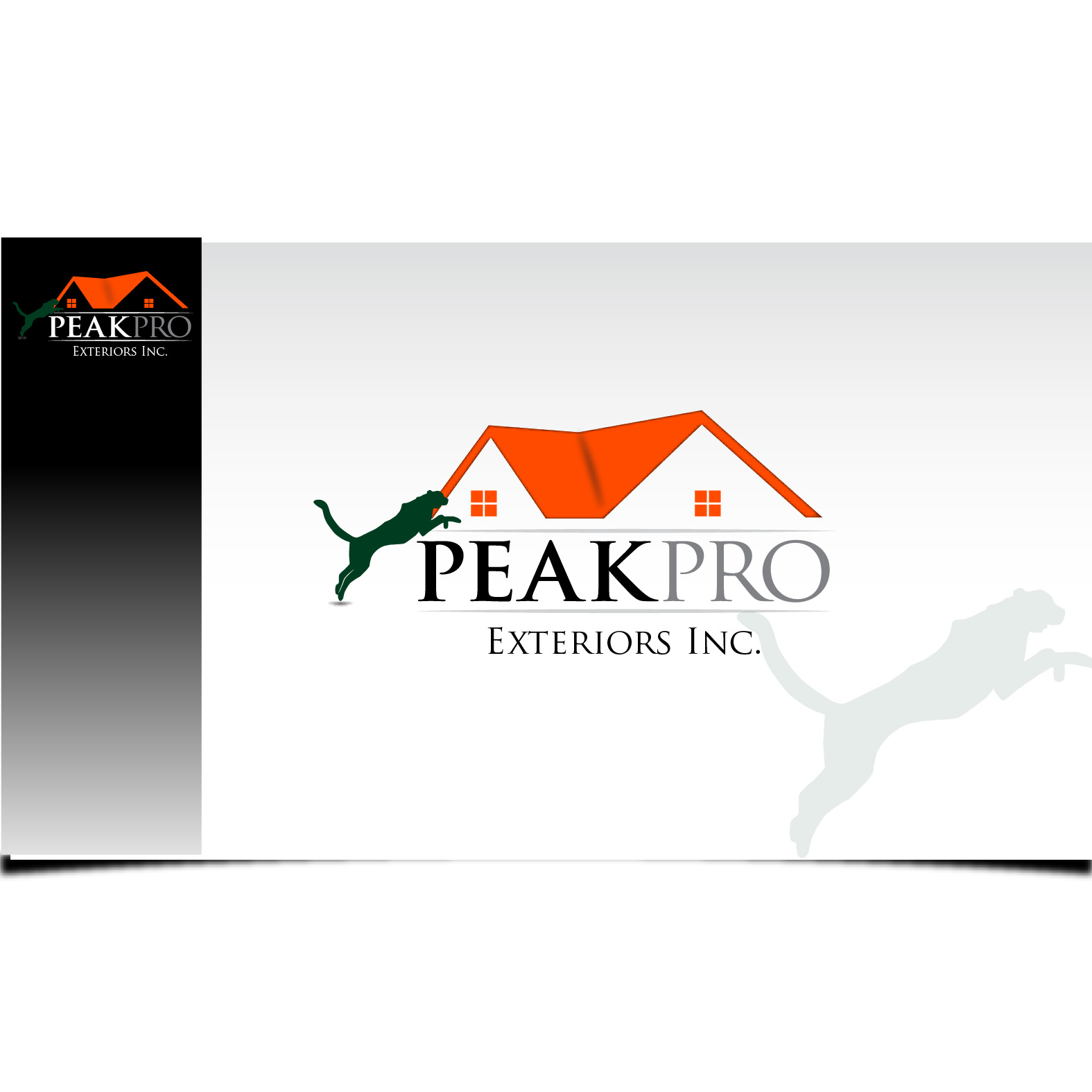 Logo Design by Robert Engi - Entry No. 112 in the Logo Design Contest Captivating Logo Design for Peakpro Exteriors Inc..