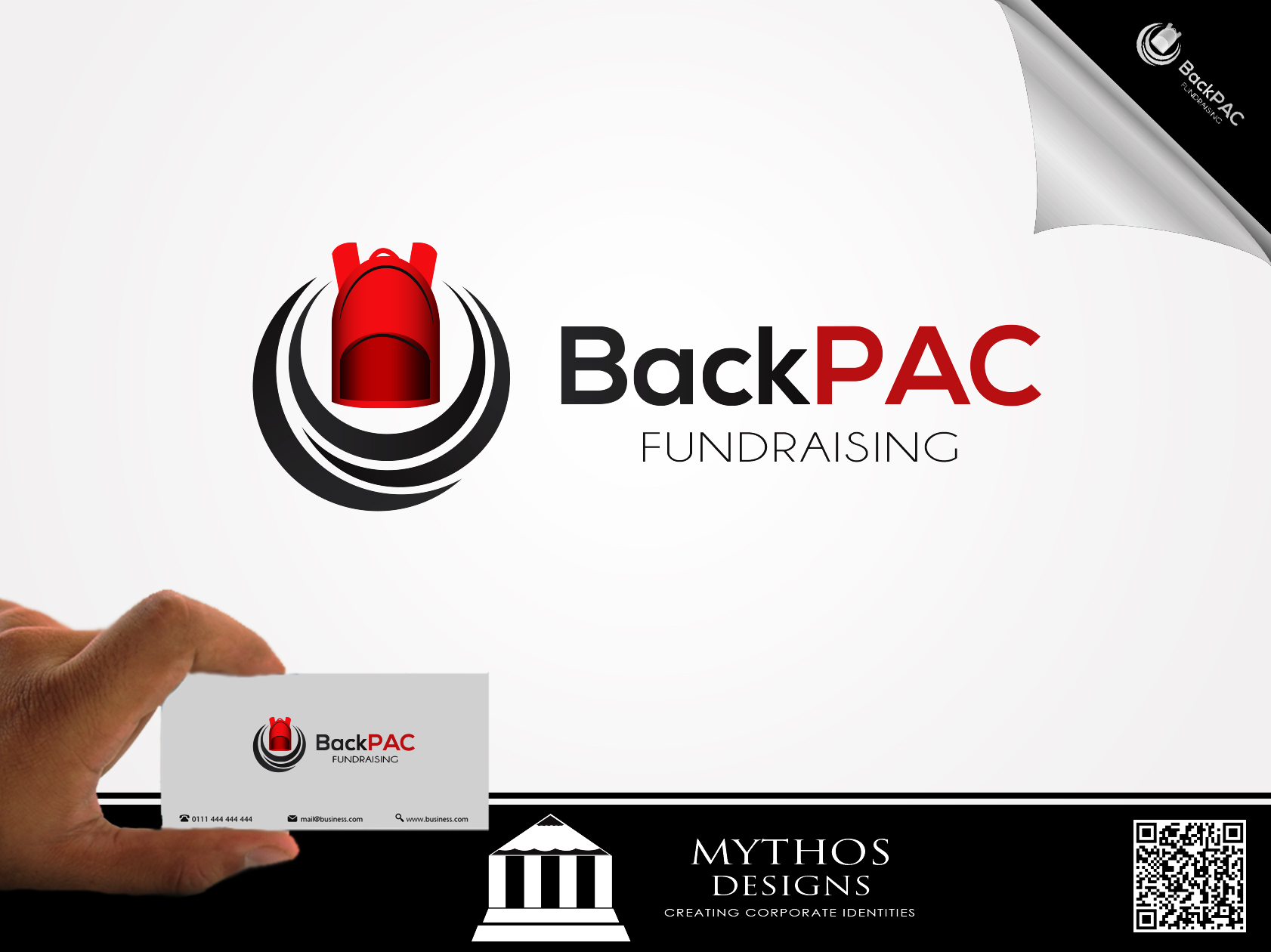Logo Design by Mythos Designs - Entry No. 63 in the Logo Design Contest Imaginative Logo Design for BackPAC Fundraising.