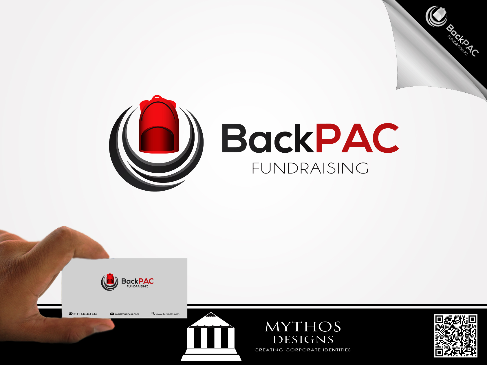 Logo Design by Mythos Designs - Entry No. 65 in the Logo Design Contest Imaginative Logo Design for BackPAC Fundraising.