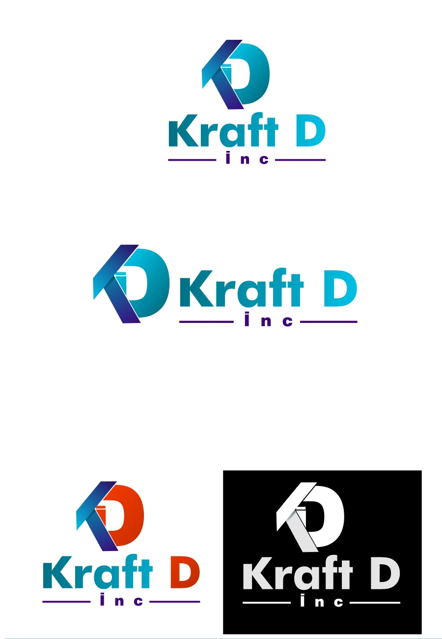 Logo Design by Private User - Entry No. 166 in the Logo Design Contest Unique Logo Design Wanted for Kraft D Inc.