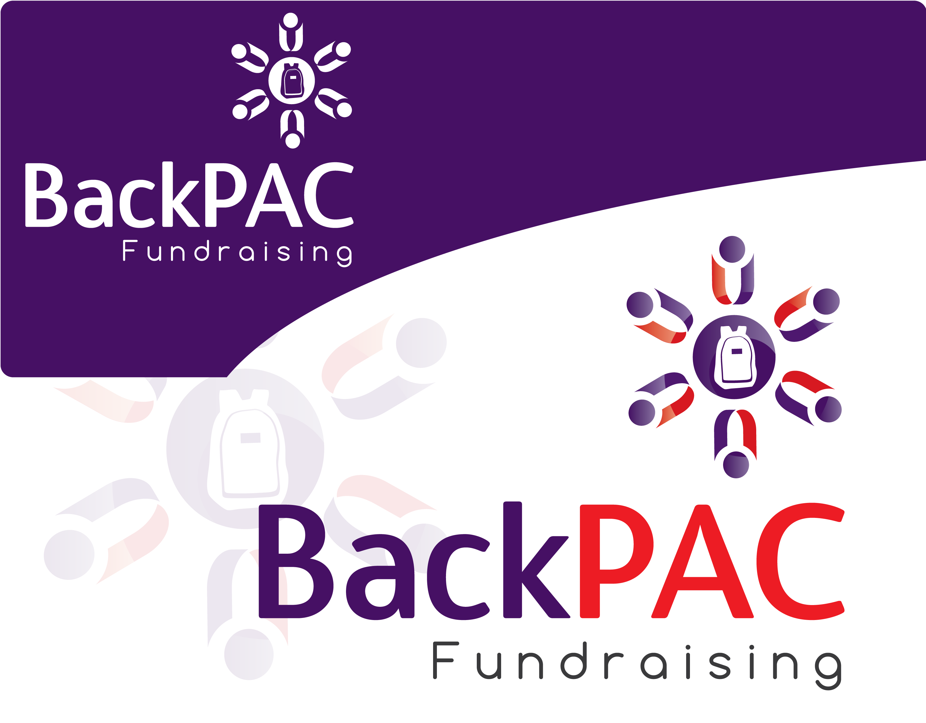 Logo Design by 354studio - Entry No. 81 in the Logo Design Contest Imaginative Logo Design for BackPAC Fundraising.