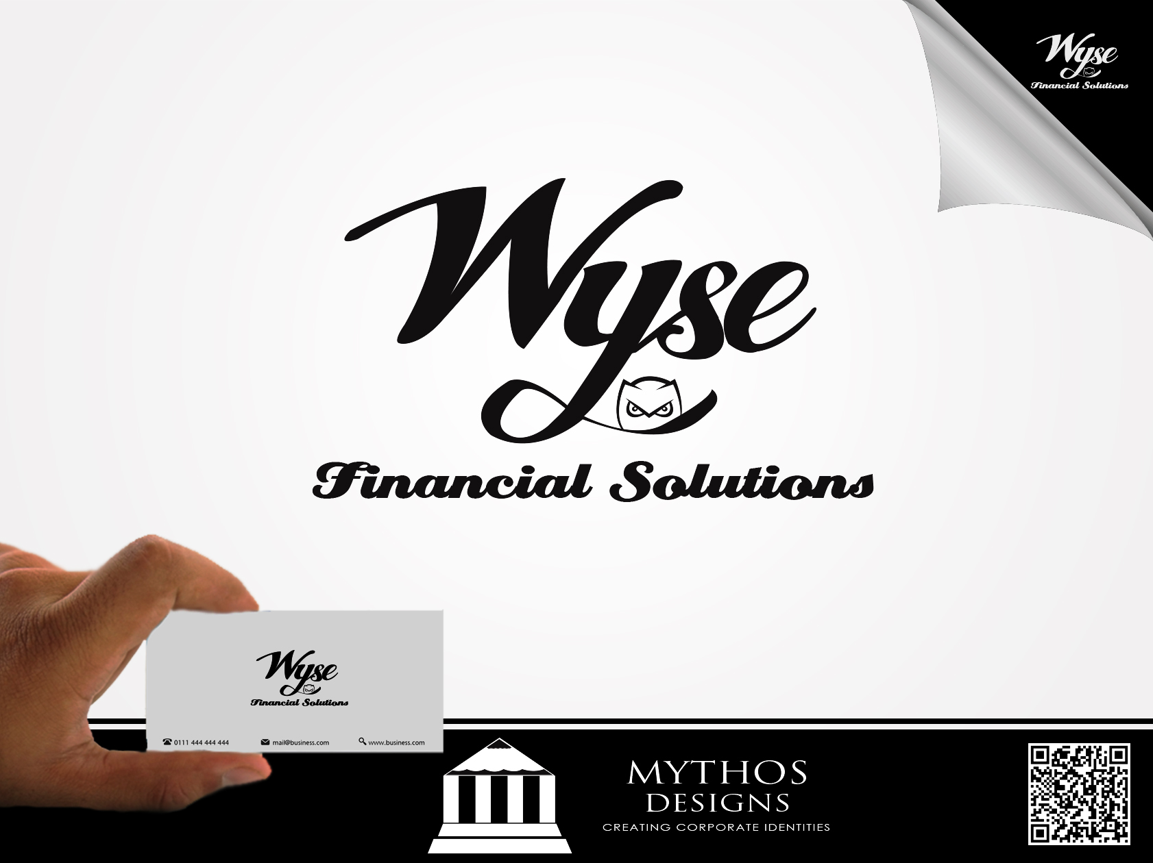 Logo Design by Mythos Designs - Entry No. 59 in the Logo Design Contest Fun Logo Design for Wyse Financial Solutions.