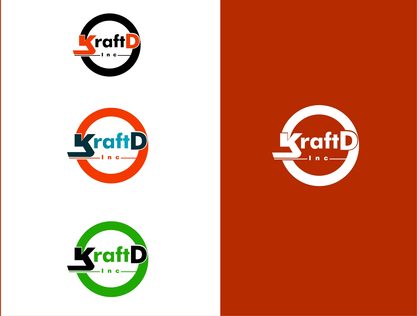 Logo Design by Private User - Entry No. 170 in the Logo Design Contest Unique Logo Design Wanted for Kraft D Inc.
