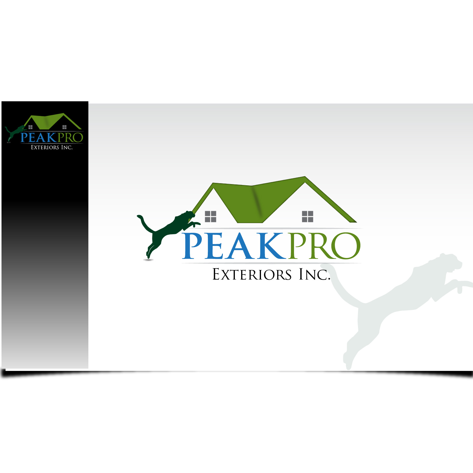 Logo Design by Robert Engi - Entry No. 120 in the Logo Design Contest Captivating Logo Design for Peakpro Exteriors Inc..
