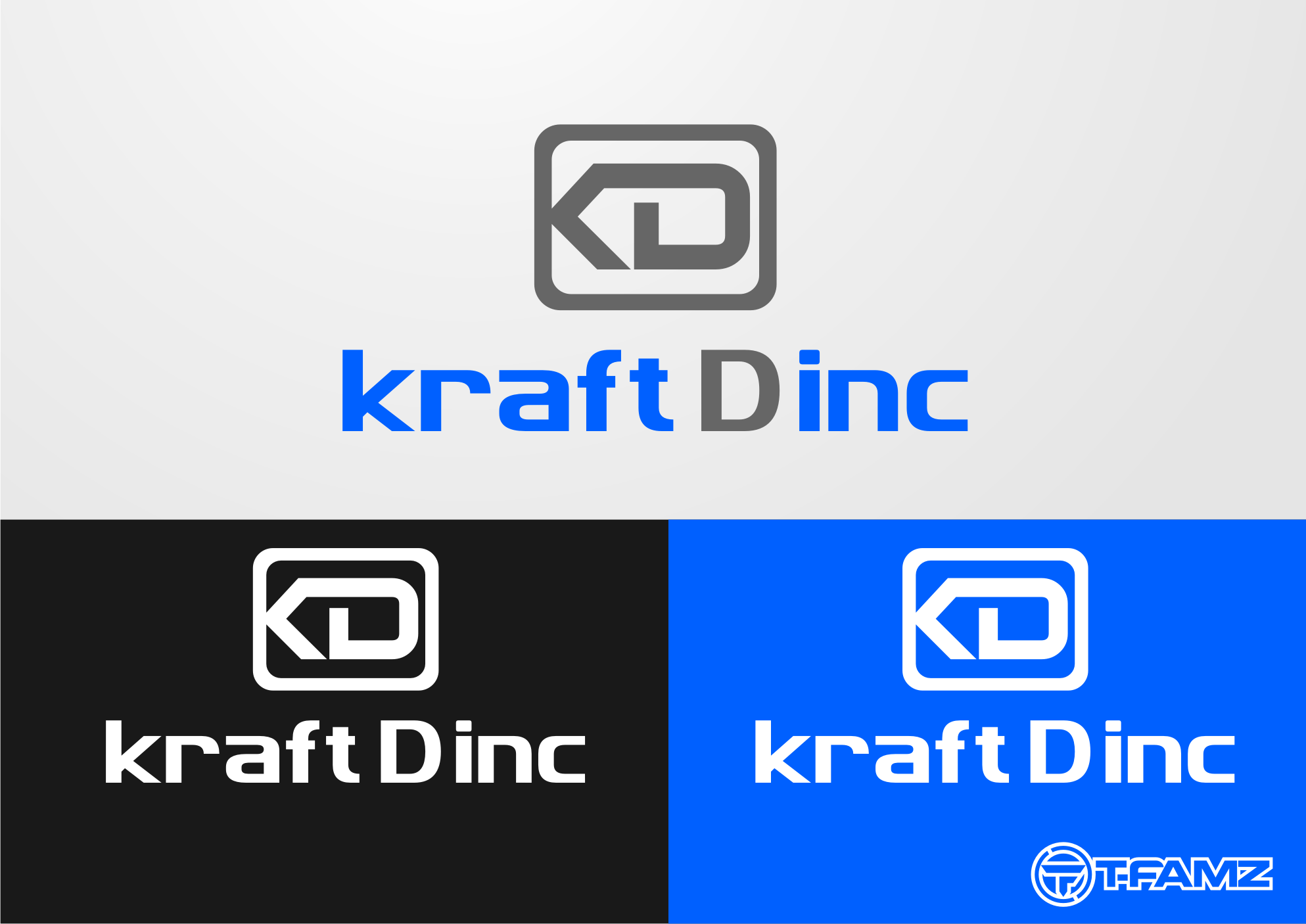 Logo Design by Tille Famz - Entry No. 172 in the Logo Design Contest Unique Logo Design Wanted for Kraft D Inc.