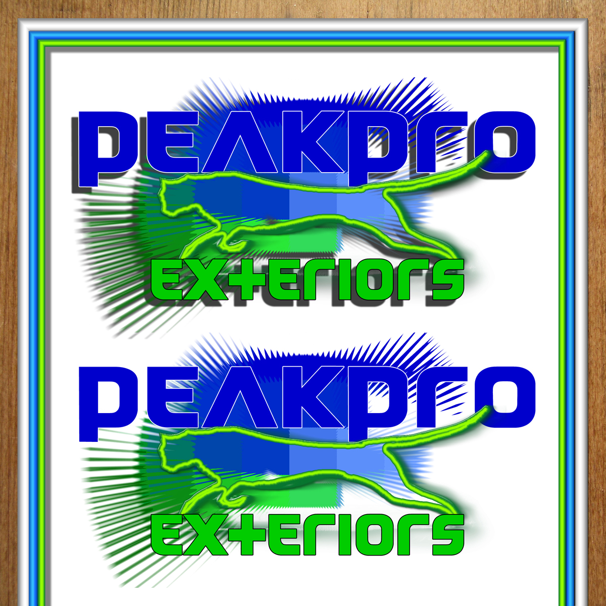 Logo Design by MITUCA ANDREI - Entry No. 125 in the Logo Design Contest Captivating Logo Design for Peakpro Exteriors Inc..