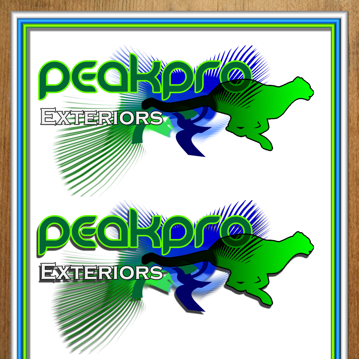 Logo Design by MITUCA ANDREI - Entry No. 127 in the Logo Design Contest Captivating Logo Design for Peakpro Exteriors Inc..