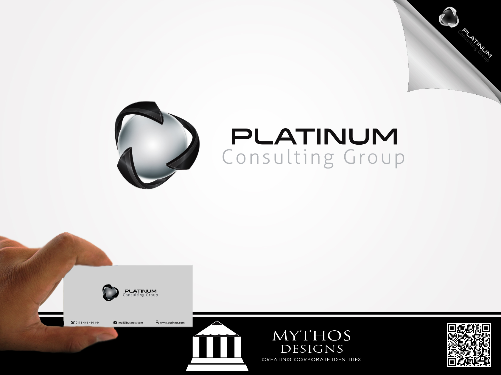 Logo Design by Mythos Designs - Entry No. 17 in the Logo Design Contest Captivating Logo Design for Platinum Consulting Group.