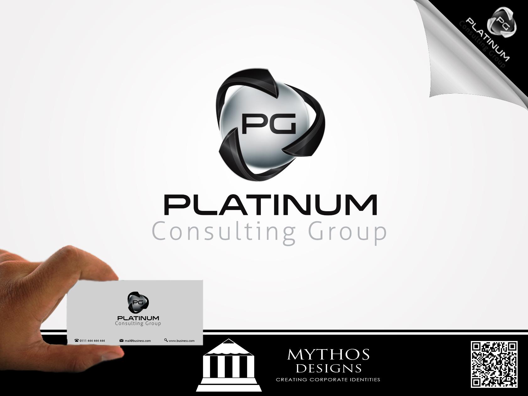 Logo Design by Mythos Designs - Entry No. 18 in the Logo Design Contest Captivating Logo Design for Platinum Consulting Group.