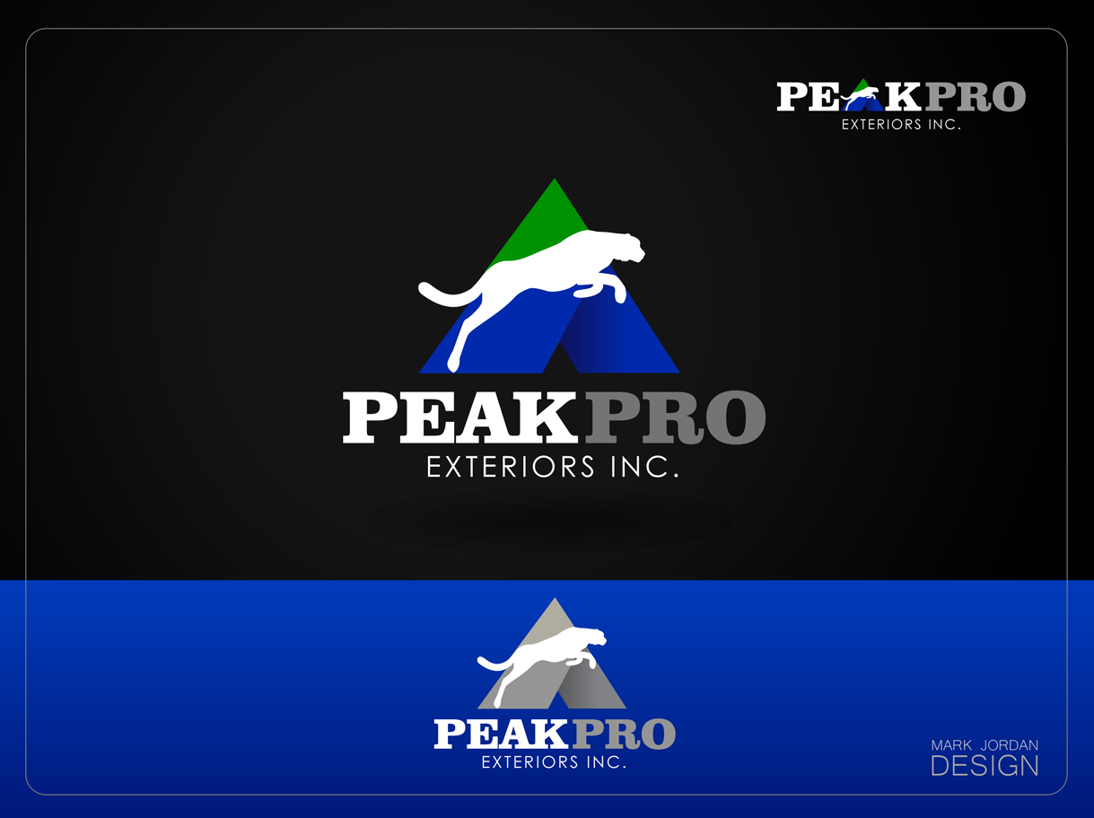 Logo Design by Mark Anthony Moreto Jordan - Entry No. 131 in the Logo Design Contest Captivating Logo Design for Peakpro Exteriors Inc..
