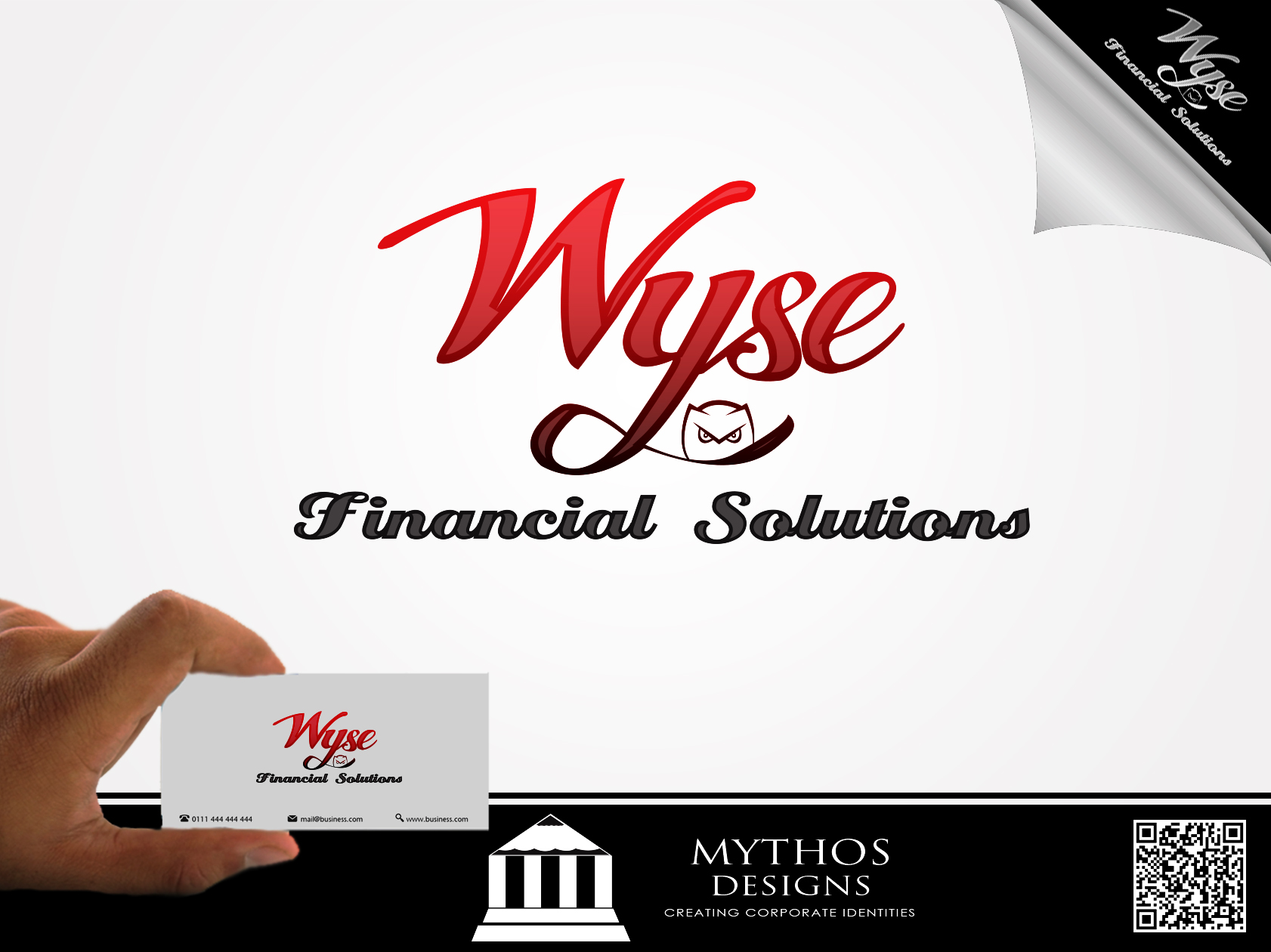 Logo Design by Mythos Designs - Entry No. 68 in the Logo Design Contest Fun Logo Design for Wyse Financial Solutions.