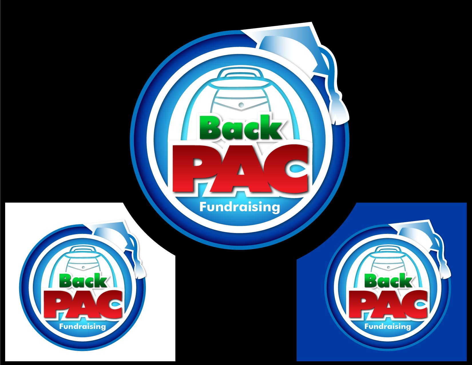 Logo Design by Emil Angelo Osias - Entry No. 92 in the Logo Design Contest Imaginative Logo Design for BackPAC Fundraising.