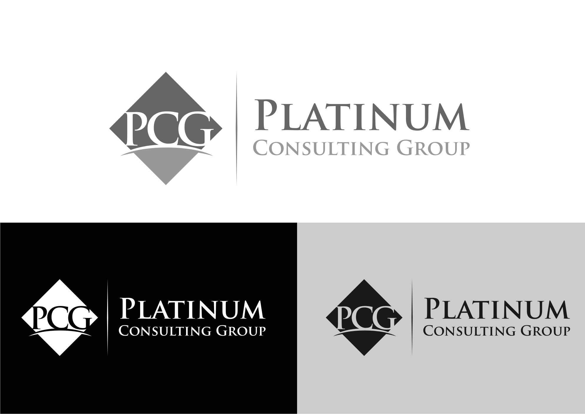 Logo Design by Tille Famz - Entry No. 20 in the Logo Design Contest Captivating Logo Design for Platinum Consulting Group.