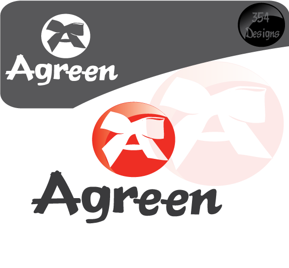 Logo Design by 354studio - Entry No. 42 in the Logo Design Contest Inspiring Logo Design for Agreen.