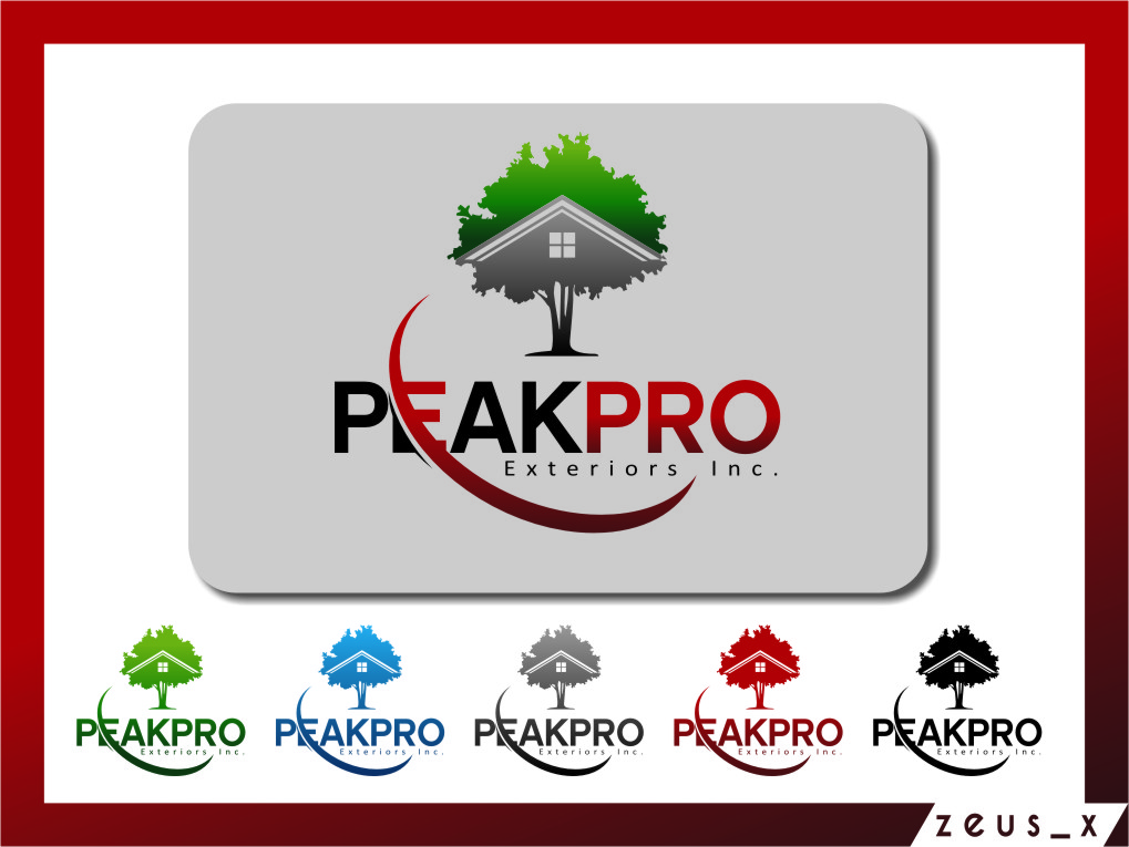 Logo Design by Ngepet_art - Entry No. 150 in the Logo Design Contest Captivating Logo Design for Peakpro Exteriors Inc..