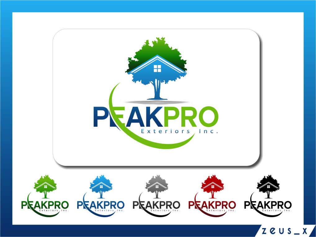 Logo Design by RasYa Muhammad Athaya - Entry No. 154 in the Logo Design Contest Captivating Logo Design for Peakpro Exteriors Inc..