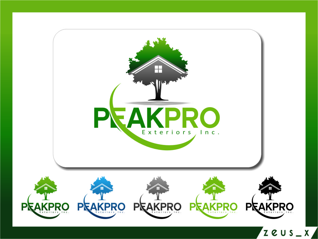 Logo Design by Ngepet_art - Entry No. 157 in the Logo Design Contest Captivating Logo Design for Peakpro Exteriors Inc..