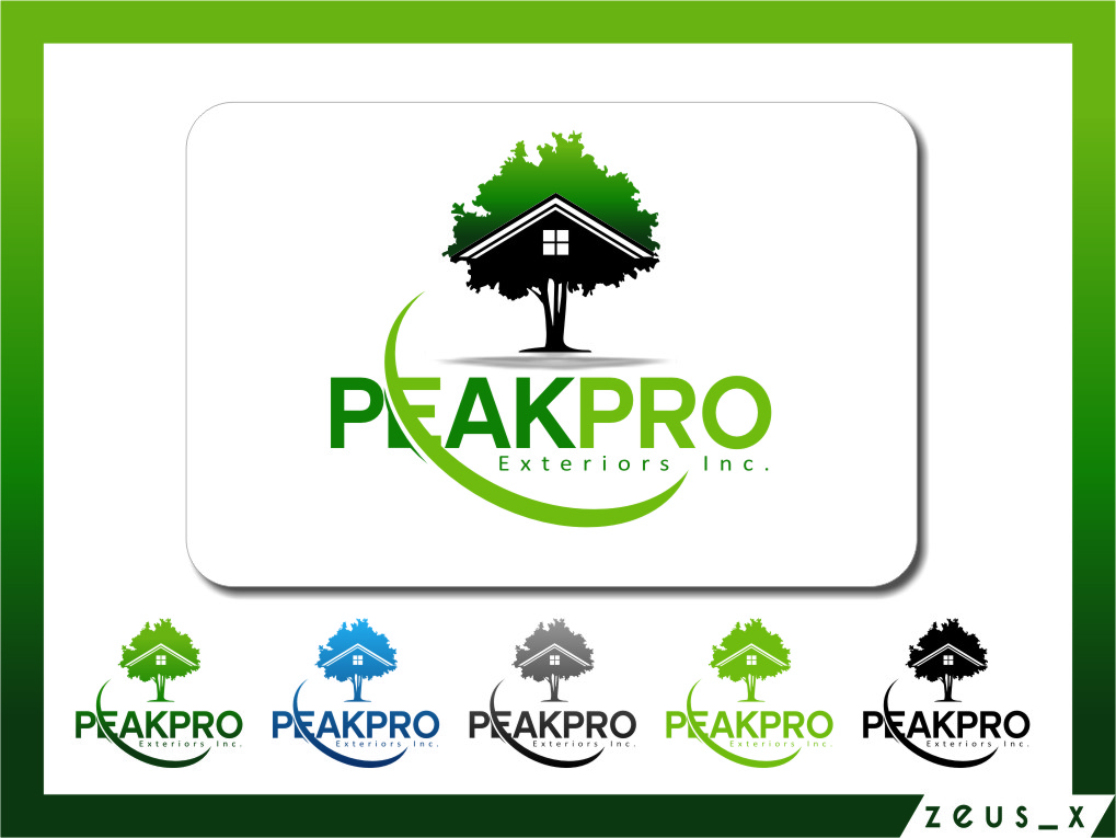 Logo Design by Ngepet_art - Entry No. 160 in the Logo Design Contest Captivating Logo Design for Peakpro Exteriors Inc..
