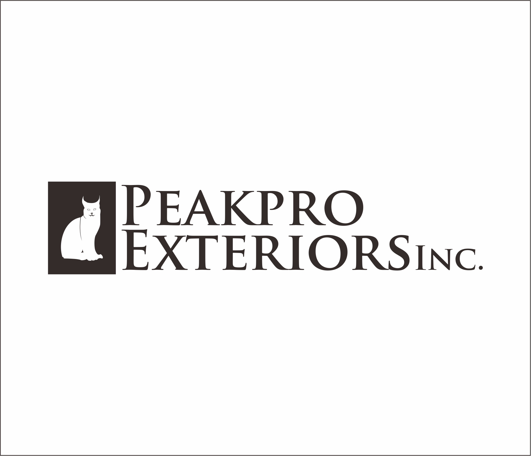 Logo Design by Armada Jamaluddin - Entry No. 162 in the Logo Design Contest Captivating Logo Design for Peakpro Exteriors Inc..