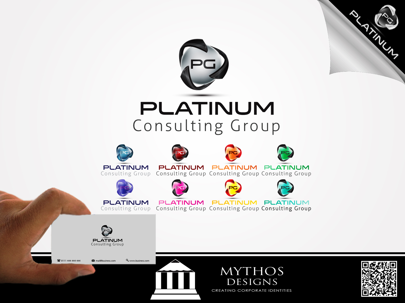 Logo Design by Mythos Designs - Entry No. 24 in the Logo Design Contest Captivating Logo Design for Platinum Consulting Group.