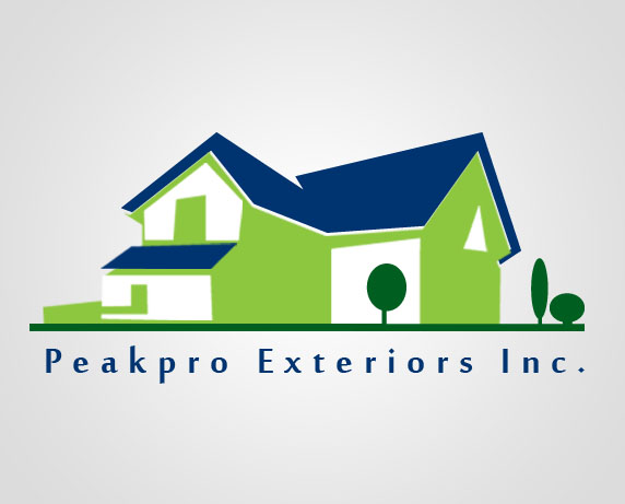 Logo Design by Private User - Entry No. 183 in the Logo Design Contest Captivating Logo Design for Peakpro Exteriors Inc..