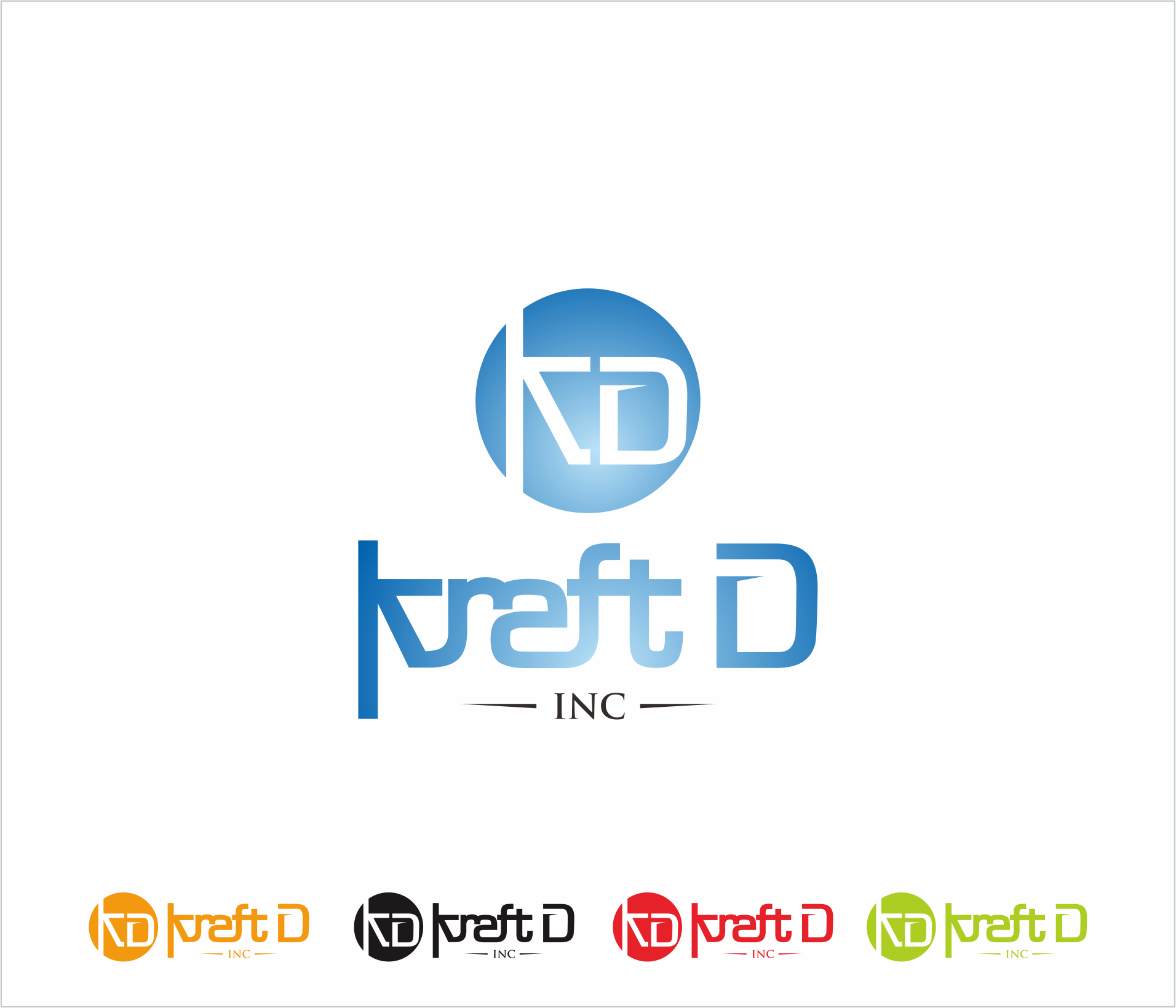Logo Design by Armada Jamaluddin - Entry No. 190 in the Logo Design Contest Unique Logo Design Wanted for Kraft D Inc.