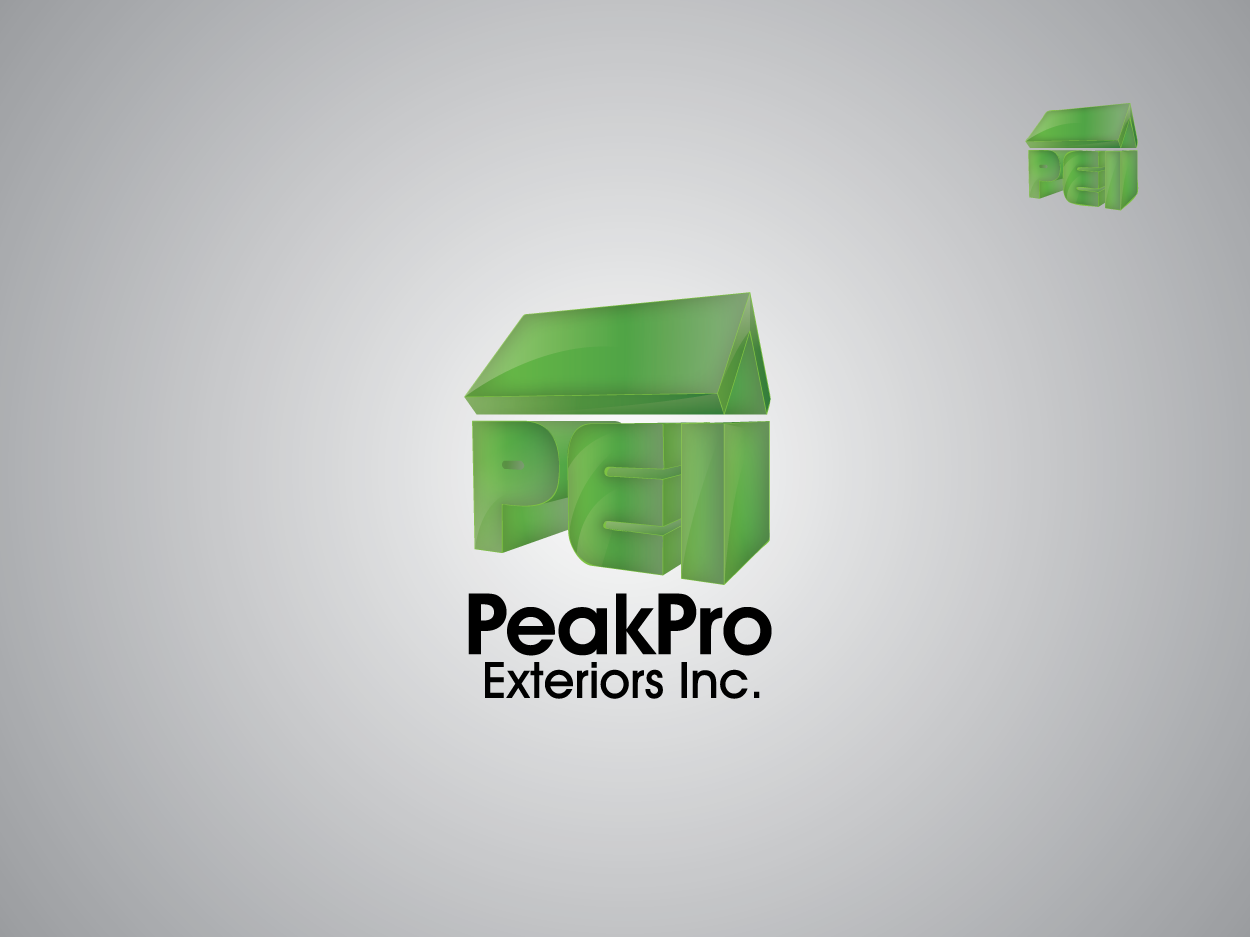 Logo Design by Private User - Entry No. 185 in the Logo Design Contest Captivating Logo Design for Peakpro Exteriors Inc..