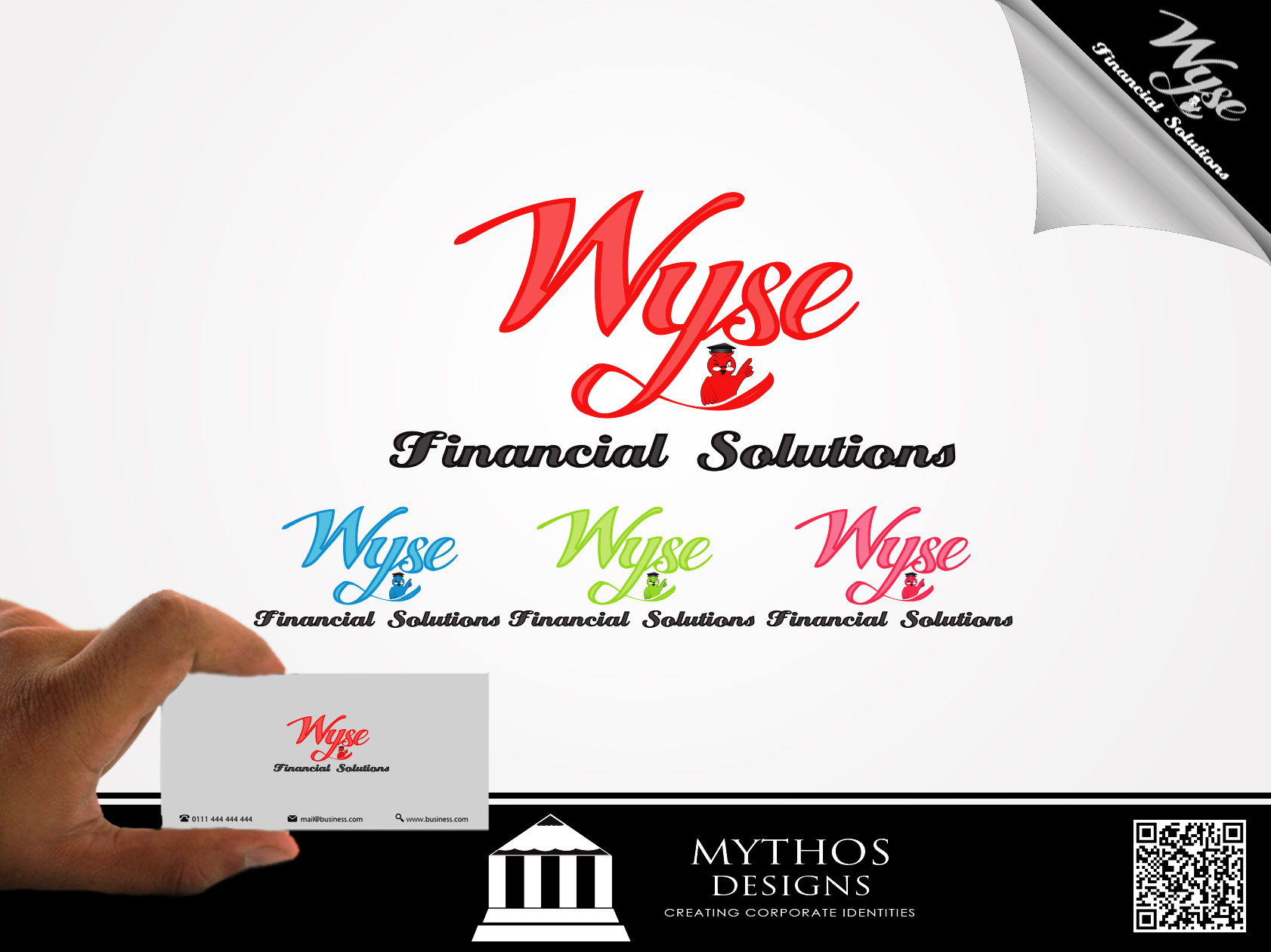 Logo Design by Mythos Designs - Entry No. 85 in the Logo Design Contest Fun Logo Design for Wyse Financial Solutions.
