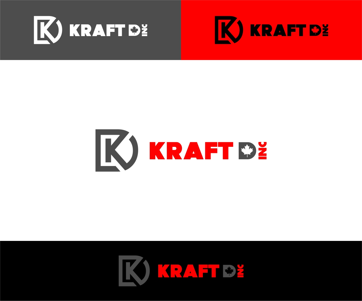 Logo Design by haidu - Entry No. 195 in the Logo Design Contest Unique Logo Design Wanted for Kraft D Inc.