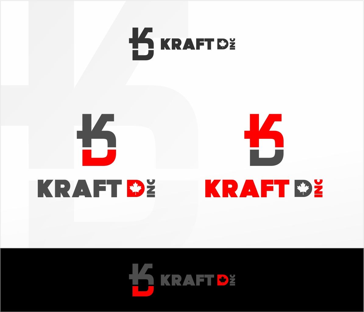 Logo Design by haidu - Entry No. 196 in the Logo Design Contest Unique Logo Design Wanted for Kraft D Inc.