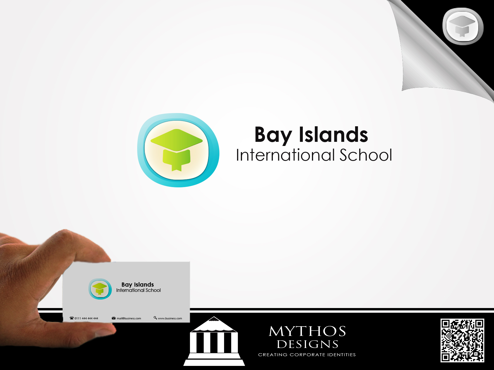 Logo Design by Mythos Designs - Entry No. 13 in the Logo Design Contest Creative Logo Design for Bay Islands International School.