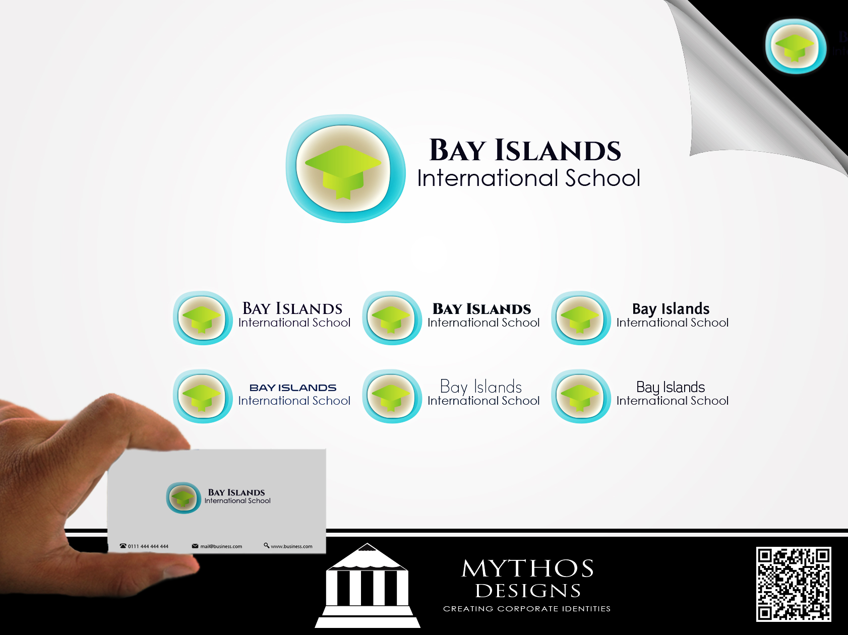 Logo Design by Mythos Designs - Entry No. 21 in the Logo Design Contest Creative Logo Design for Bay Islands International School.