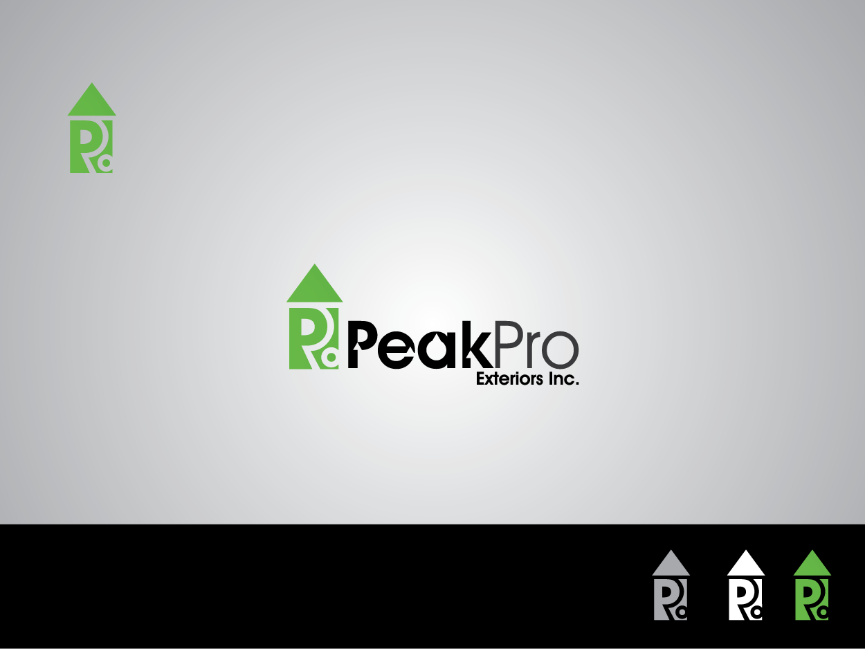 Logo Design by Private User - Entry No. 191 in the Logo Design Contest Captivating Logo Design for Peakpro Exteriors Inc..