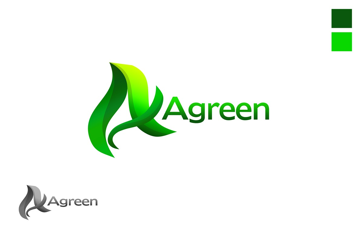 Logo Design by Respati Himawan - Entry No. 55 in the Logo Design Contest Inspiring Logo Design for Agreen.