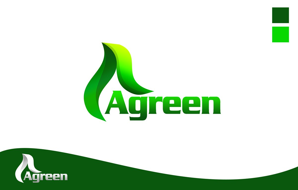 Logo Design by Respati Himawan - Entry No. 56 in the Logo Design Contest Inspiring Logo Design for Agreen.