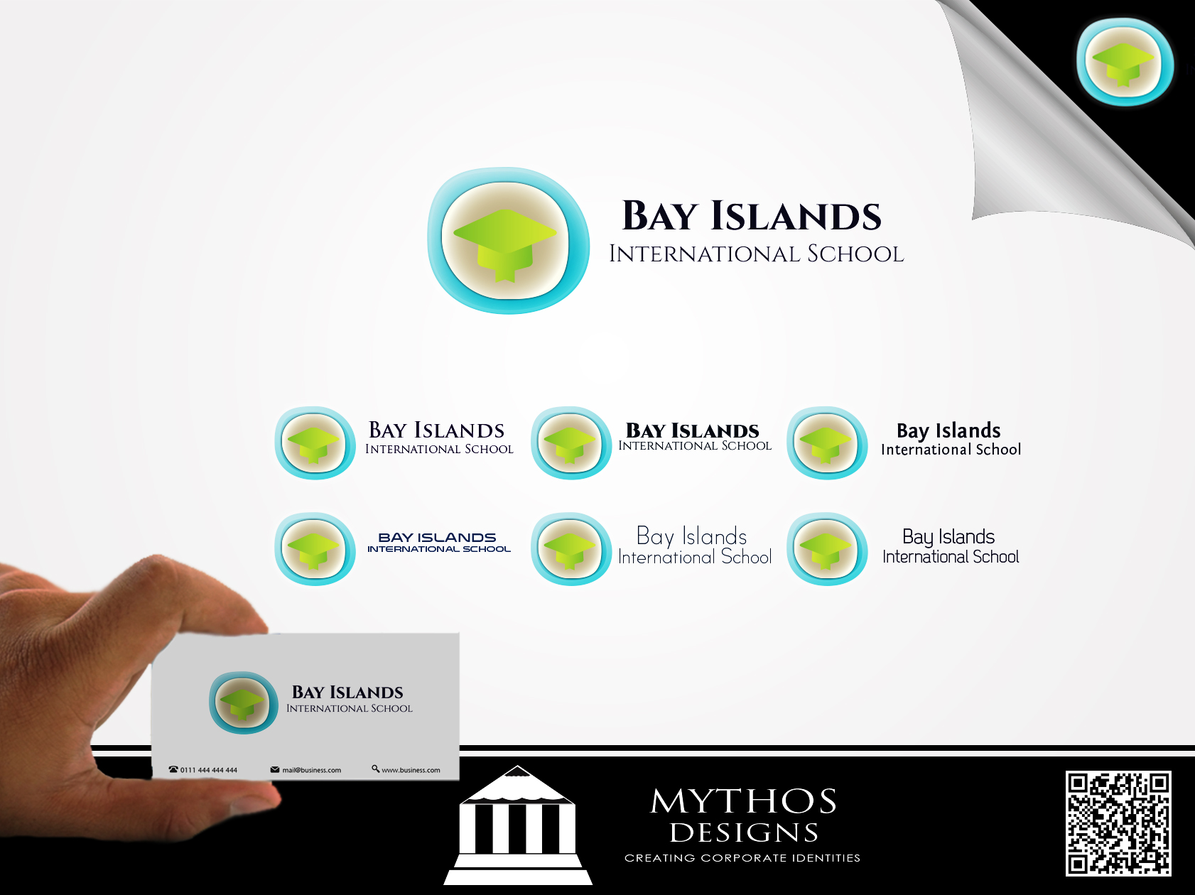 Logo Design by Mythos Designs - Entry No. 22 in the Logo Design Contest Creative Logo Design for Bay Islands International School.