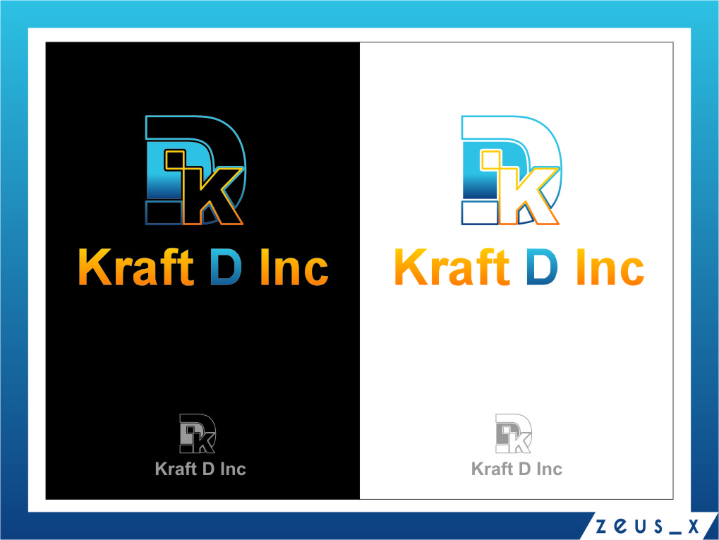 Logo Design by Ngepet_art - Entry No. 217 in the Logo Design Contest Unique Logo Design Wanted for Kraft D Inc.